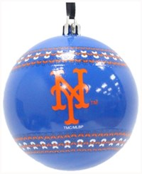 Memory Company New York Mets Ugly Sweater Ball Ornament Royalblue