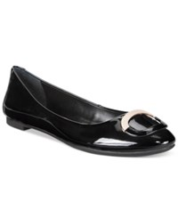 Alfani Gwennevah Buckle Flats Only At Macy's Women's Shoes Black