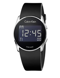 Calvin Klein Digital Future Black Rubber Strap Watch K5b23td1