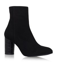 Carvela Kurt Geiger Smile Mid Heel Calf Boots Female Black