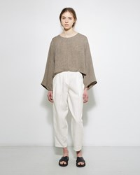 Dua An Pleated Linen Trouser White