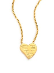 Valentino L'amour Heart Pendant Necklace Gold