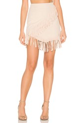 1.State Fringe Wrap Faux Suede Mini Skirt Beige