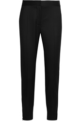 Stella Mccartney Vivian Wool Twill Slim Fit Pants
