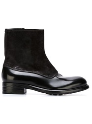 Rocco P. Panelled Boots Black