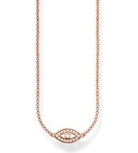 Thomas Sabo Fatima's Garden Nazar's Eye 18Ct Rose Gold Plated Sterling Silver And Pave Zirconia Necklace