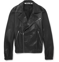 Mcq By Alexander Mcqueen Leather Biker Jacket Black