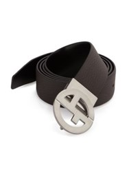Giorgio Armani Reversible Leather Belt Espresso