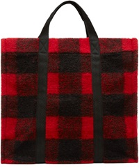 Etoile Isabel Marant Red Plaid Wool Rusty Tote