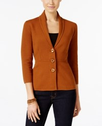 Alfani Petite Shawl Collar Blazer Only At Macy's Brushed Sienna