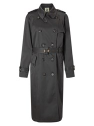 Four Seasons Double Breasted Trench Coat Pewter