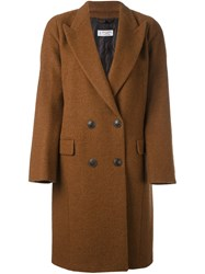 Alberto Biani Double Breasted Coat Brown