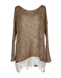 Rose' A Pois Sweaters Camel