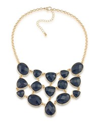 1St And Gorgeous Multi Shape Bib Necklace Dark Blue
