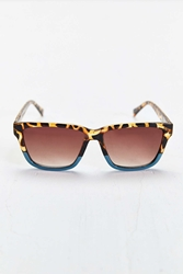 Urban Outfitters Tortoise Turquoise Square Sunglasses Brown