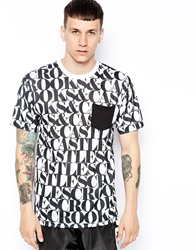 Crooks And Castles T Shirt With Headliner Print White