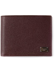 Dolce And Gabbana Fold Over Wallet Brown