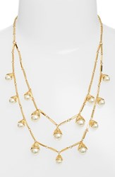 Tory Burch Women's Faux Pearl Bud Multistrand Necklace