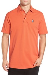 Psycho Bunny Men's 'Ambleside' Pima Cotton Pique Polo Paprika