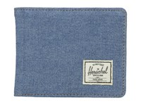 Herschel Hank Denim Leather Wallet Handbags Blue
