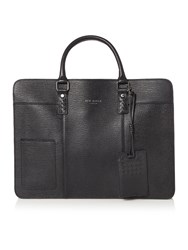 Ted Baker Woven Leather Document Bag Black