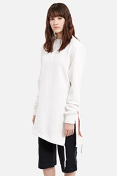 Y Project Asymmetric Layered Top White