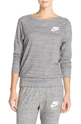 Women's Nike 'Gym' Crewneck Sweatshirt Carbon Heather Sail