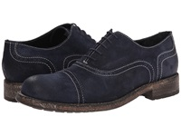 Messico Guatavo Blue Vintage Leather Men's Dress Flat Shoes