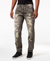 Sean John Men's Gray Tint Jeans Grey Sand Rips