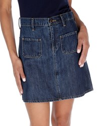 Lucky Brand High Waisted A Line Mini Skirt Cunningham