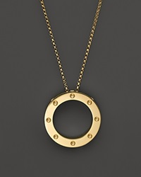 Roberto Coin 18K Yellow Gold Pois Moi Circle Pendant Necklace 18