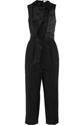 3.1 Phillip Lim Belted Silk And Wool Jumpsuit Black