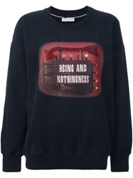 Each X Other 'Being And Nothingness' Sweatshirt Black