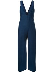 Manning Cartell V Neck Flared Jumpsuit Blue