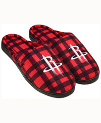 Forever Collectibles Houston Rockets Flannel Slide Slippers Red