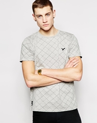Voi Jeans Check T Shirt Grey