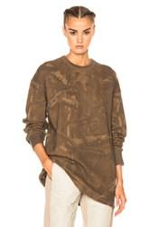 Yeezy Season 3 Thermal Long Sleeve Tee In Abstract Brown Abstract Brown