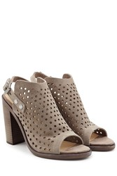 Rag And Bone Rag And Bone Perforated Suede Sandals Grey