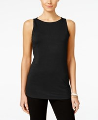 Inc International Concepts Petite Boat Neck Tank Top Only At Macy's Deep Black