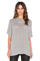James Perse Knit Mesh Hooded Pullover Gray