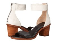 Frye Brielle Back Zip Sandal Black Multi High Heels