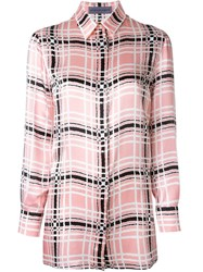 Emanuel Ungaro Checked Shirt Pink And Purple
