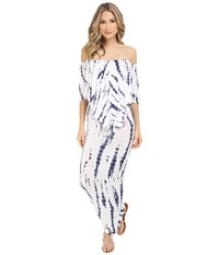 Culture Phit Ayden Dress White Navy Tie Dye Women's Dress