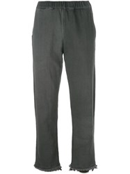 Water Frayed Jeans Grey