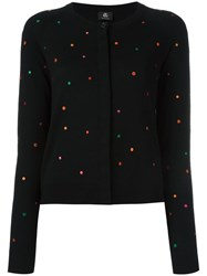 Paul Smith Ps By Dotted Pattern Cardigan Black