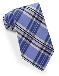 Lord And Taylor James Plaid Tie Blue