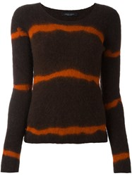 Roberto Collina Striped Jumper Green