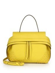 Tod's Wave Small Gommini Leather Satchel Yellow