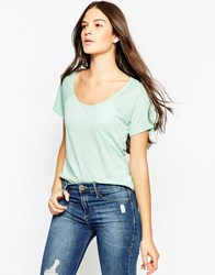 Sundry Raglan Crew Neck T Shirt Dark Mint Green