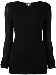 James Perse Round Neck Jumper Black
